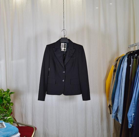SISLEY smocking jacket / satin collar / size M