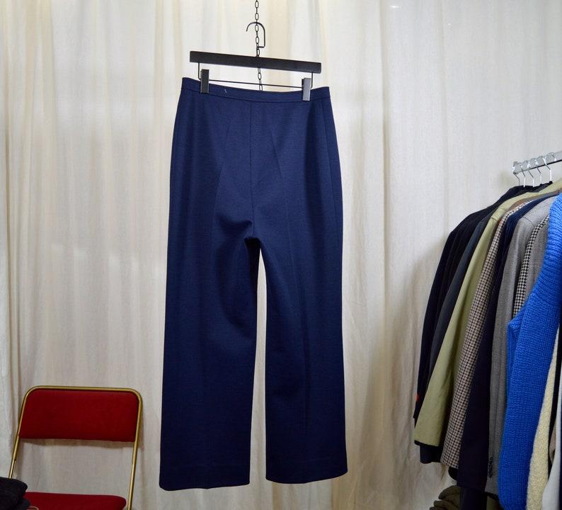 Wide flat trousers  thick jersey fabrics  L-size woman