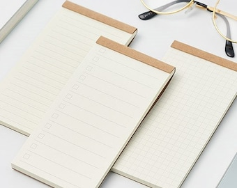 Notepad 4 types (To Do List/Lined/Grid/Blank) Checklist Shopping list memo pad | Scheduler Sticky Notes Pack |  Memo Notes pads Collection