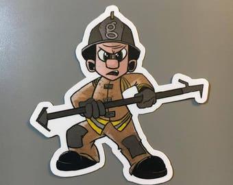 Firefighter Georgia Hook Sticker