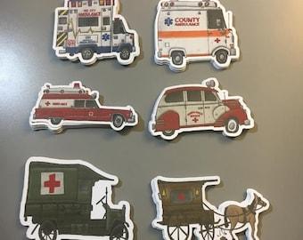 Ambulance Stickers - Set of 6
