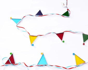Stained Glass Bunting - Glass Bunting - Gift for Child - Home Decor - Colourful bunting - Nursery bunting - Bunting - Garland