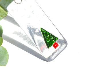 Christmas Tree Fused Glass Decoration