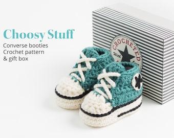 Baby High Top Booties Crochet Pattern