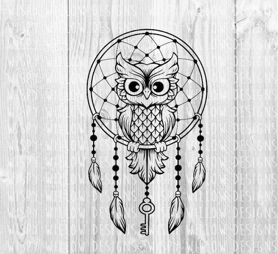Owl dreamcatcher drawing - photo#42