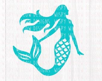 Mermaid SVG, Mermaid DXF, png, pdf, jpeg, eps, Mermaid Decal File, Mermaid, Digital Download File, Cricut, Silhouette, Cut File, Vinyl Decal