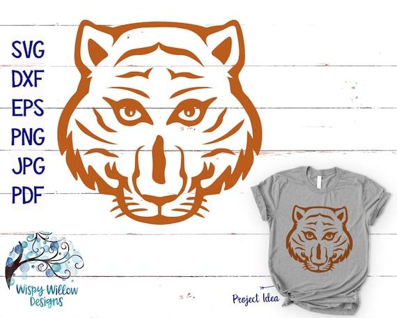 Tiger Face Svg Dxf Png Eps Jpg Tiger Svg Tiger Head Svg Etsy