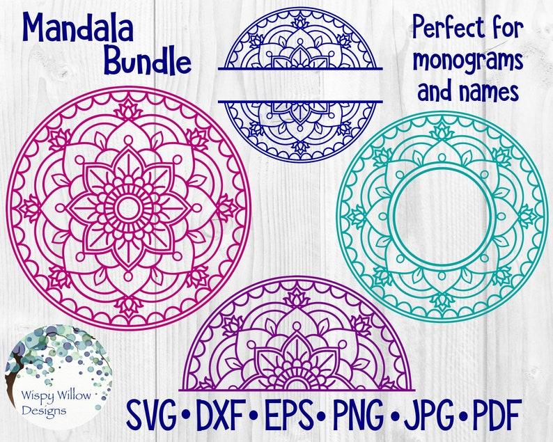 204+ Mandala Svg Bundles – SVG,PNG,DXF,EPS include