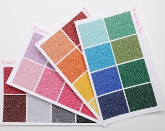 Glitter Headers | Planner Stickers