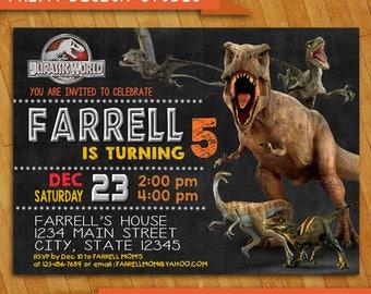 Jurassic World Invitation Personalized 5x7 Or 4x6 Digital Jurasic