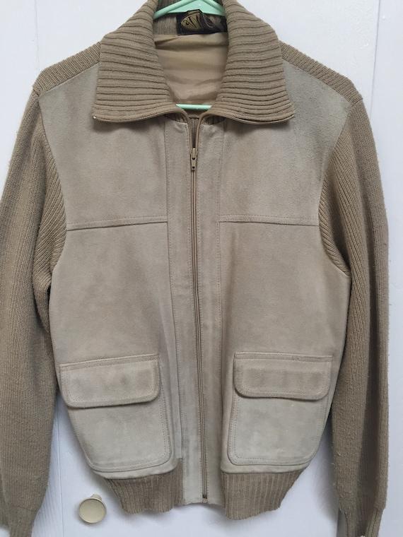 1980s Suede sweater jacket