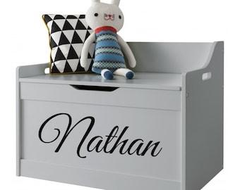 Personalised Toy Box Vinyl Sticker Boys or Girls Room Bedroom Play Room Nursery