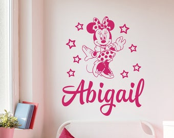 Minnie mouse wall decals | Etsy
