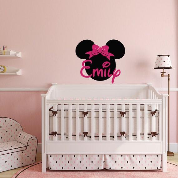 Minnie Mouse Wandtattoo Mädchen Namen Wand Aufkleber