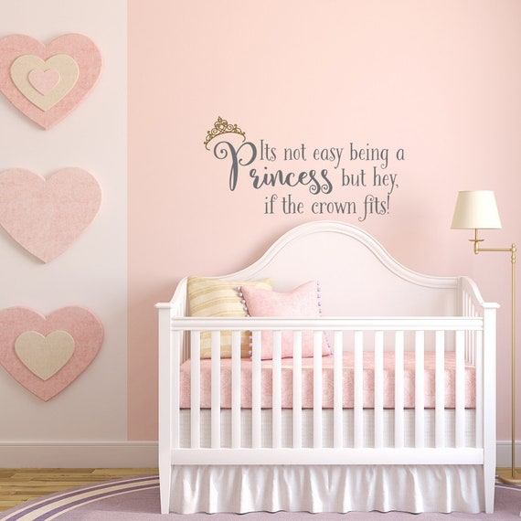 Princess Room Quotes Wall Decals Its Not Easy Being A Etsy
