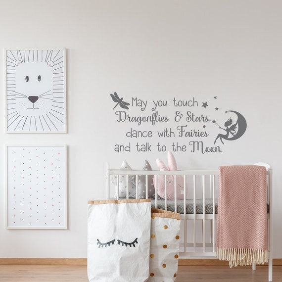 Fairy Wall Decal - Wall Decals Nursery Quotes Girl - Kids Wall Decal Quote  - Girls Wall Decor - Girls Wall Stickers - Nursery Wall Decal
