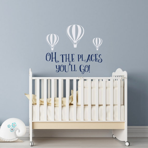 Oh The Places Youu0027ll Go Wall Decal Dr Seuss Nursery Dr | Etsy