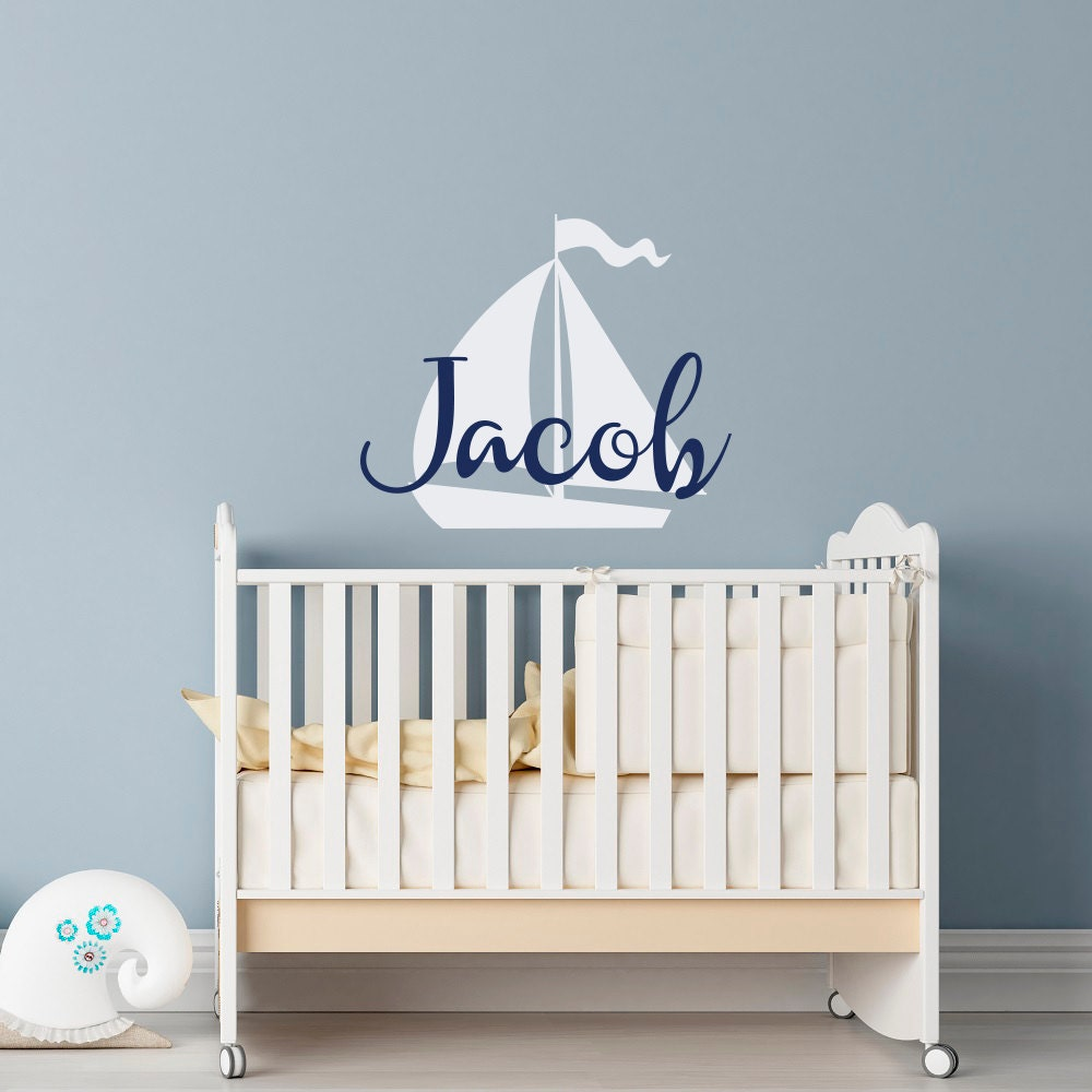 Personalized Custom Name Kids wall art vinyl decal Removable boy girl nursery 26