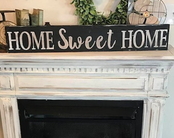 Home sweet home sign / 3 ft long / farmhouse Country wall decor / rustic distressed sign