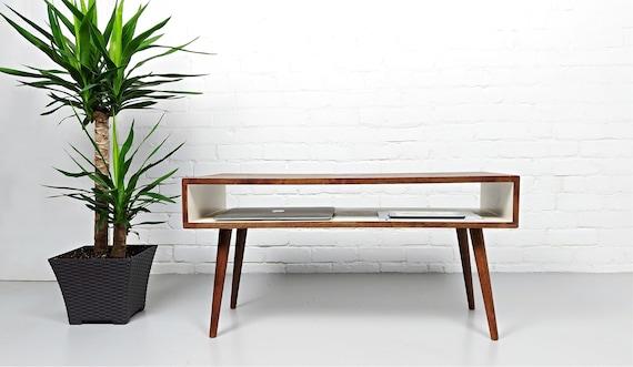 Mid Century Modern Chestnut White Mid Century Coffee Table Etsy