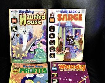 Vintage 70s Harvey Comic Book Set of 4