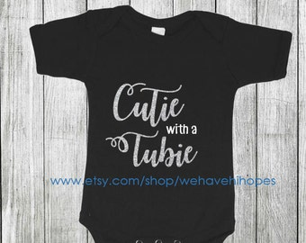 Girls Cutie with a Tubie Children's T-Shirt, Feeding Tube Awareness, G Tube, Button Shirt