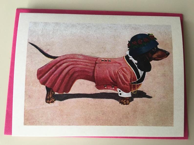 Female Dachshund Mini Card Birthday Card Gift Card Holder image 0