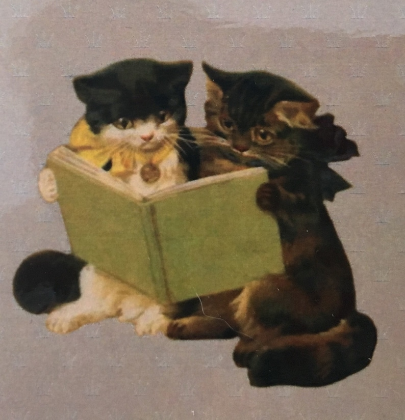 Reading Cats Bookmark Book Lover Bookmark Book Clip Book image 0