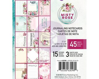 Misty Rose 3X4 Or X6 Journaling Notecards