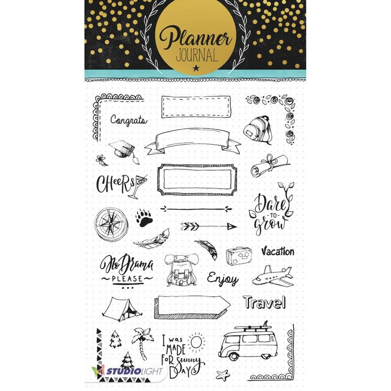 Calendar Planner Stamps Travel Journal Clear