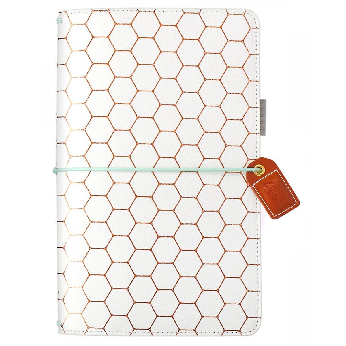 Carnet de Pages voyage standard - Webster Pages de couleur Crush - hexagone en cuivre 5ee9cf