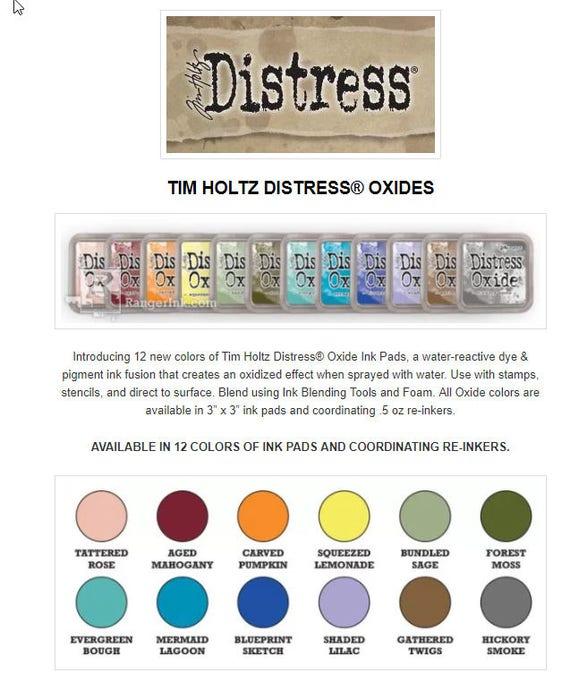 Encre d'oxyde de Tim Holtz Distress ou Pads série 3-12 tampons ou Distress Reinkers 6128b1