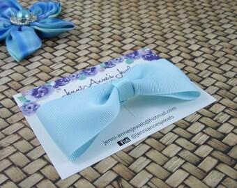 Large Bow Tie Clip - Greens/Aquas
