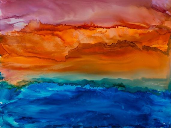 Sunrise Abstract Art