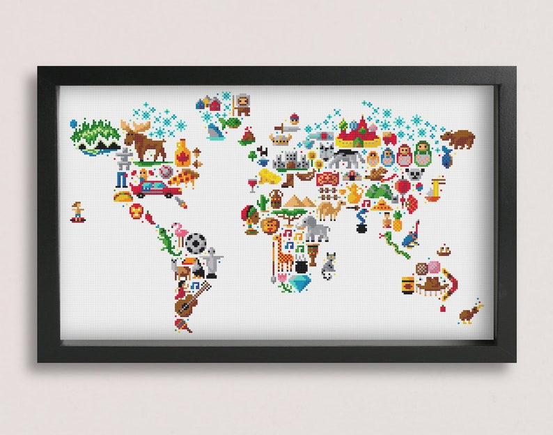picture relating to World Map Printable Pdf called Globe Map cross sch practice / Printable PDF Behavior / Globe Map Embroidery Routine / Uncomplicated Cross Sch / Map Sch / World Cross Sch
