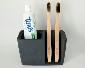 Concrete Toothpaste Cad Cement Tray Bathroom Accessories Modern Bath Gift For Friend Industrial Decor Bath