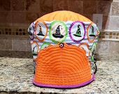 6 quart Instant Pot Pressure Cooker Appliance Cover in a Halloween Witchy Witch hat Print with quilted top and pull tab with button