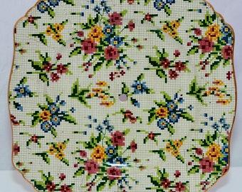 d240316e09e0 ROYAL WINTON CHINTZ Art déco Queen Anne patron gâteau plaque C1939
