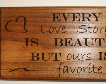 Love Story  Wall Hanging