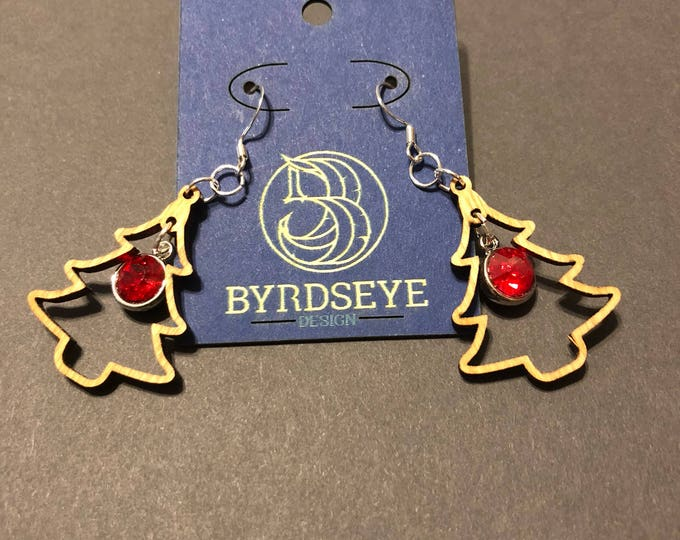 Christmas Tree with Bling Earrings