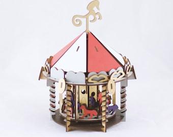 Carousel 3D Puzzle/Model