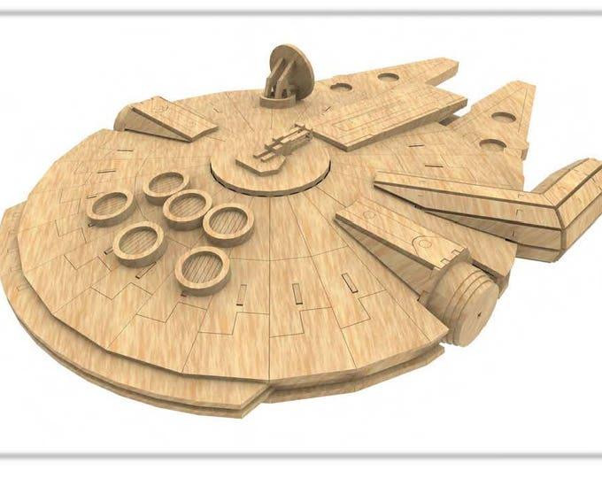Millenium Falcon (StarWars Inspired) 3D Puzzle/Model