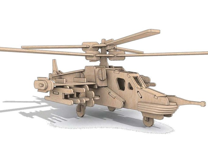 Heli Shark Helicopter 3D Puzzle/Model