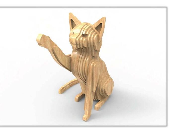 Cat 3D Puzzle/Model