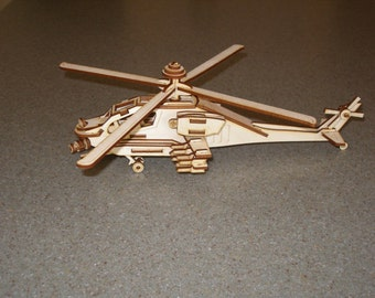Helicopter 3D Puzzle/Model
