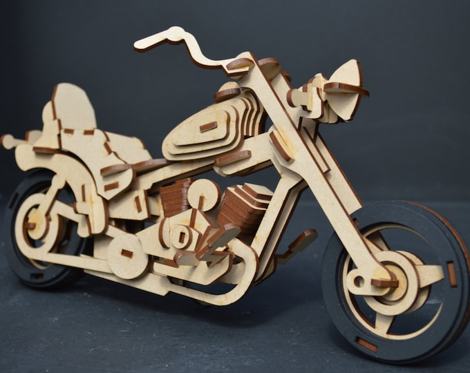 Motorcycle 3D Puzzle/Model