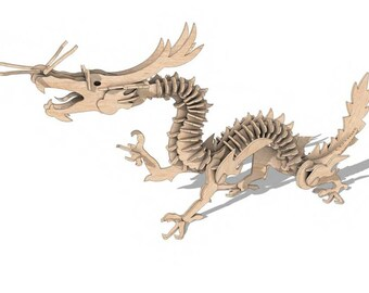 Chinese Dragon 3D Puzzle/Model
