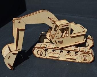 Excavator 3D Puzzle/Model