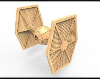Tie Fighter (StarWars Inspired) 3D Puzzle/Model
