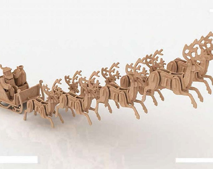 Santa Sleigh 3D Puzzle/Model